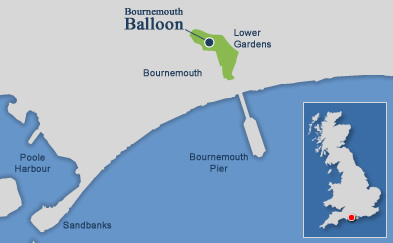 Bournemouth Balloon coastal map