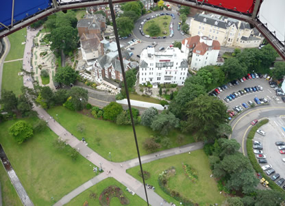 Bournemouth Balloon looking down